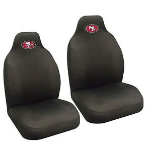 New Nfl San Francisco 49ers 2 Front Universal Fit Car Truck Bucket Seat Covers