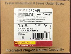 Lot Of 10 Square D Homeline Hom115pcafi 15a Plug In Arc fault New