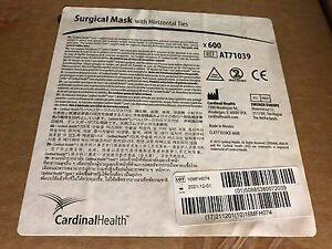 600 Cardinal Health Surgical Masks With Horizontal Ties At71039 New Medical