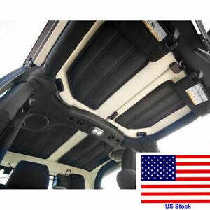 Blk Hardtop Sound Deadener Headliner Heat Insulation For Jeep Wrangler 2011 2017