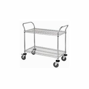 Portable Tray Wheeled Rolling Moving Tool Mobile Wire Utility Cart Shelf Storage