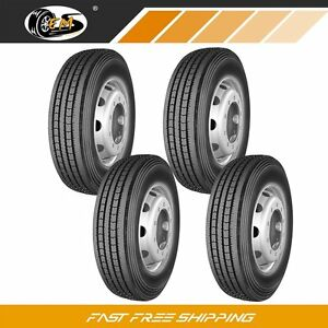 4 New 295 75r22 5 144 141m 14pr All Position Commercial Truck Tires All season