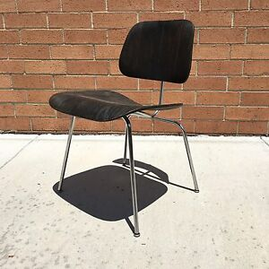 Early Evans Charles Ray Eames Ebony Dcm Dinning Chair For Herman Miller Knoll