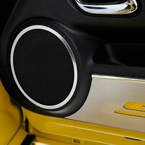 For Chevy Camaro 2010 2013 Acc Polished Front Door Speaker Bezels