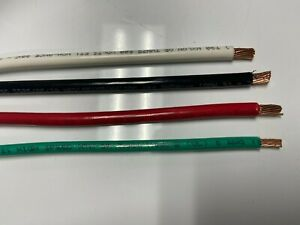 15 Ea Thhn Thwn 6 Awg Gauge Black White Red Copper Wire 15 8 Awg Green
