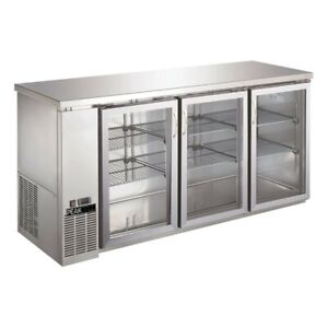 Ubb 24 72gss Glass Door Back Bar Cooler