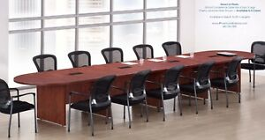 18 Foot Expandable Conference Table With 4 Power Centers And Data Ports 5 Colors