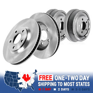 Front Brake Rotors Rear Brake Drums For 1997 1998 1999 Ford F150 4wd 4x4
