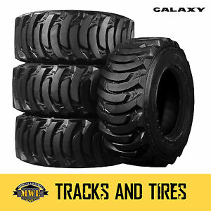 12 16 5 12x16 5 Galaxy Marathoner 10 ply Skid Steer Tires Pick Your Rim Color
