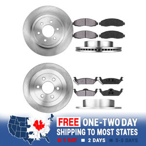 Front And Rear Rotors Metallic Pads For 2003 2004 Dodge Dakota 2wd 4wd 4x4