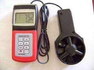 Digital Anemometer Air Flow Wind Speed Meter Beau c