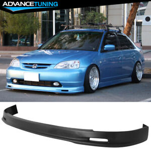 For 01 03 Honda Civic Mugen Style Front Bumper Lip Pp