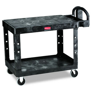 Heavy Duty Wheeled Rolling Flat Shelf Service Utility Cart Storage Compartments