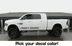 2 Pc Set Family Wagon Rocker 24 36 42 Sticker Decal Fits Ram Mega Truck 4x4