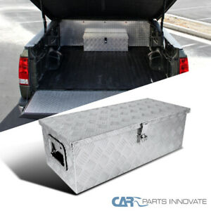 30 x 13 Truck Pickup Underbody Aluminum Tool Box Trailer Storage Bed W Lock