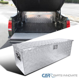 49 X 15 Truck Pickup Flat Bed Aluminum Underbed Tool Box Tongue Trailer Storage