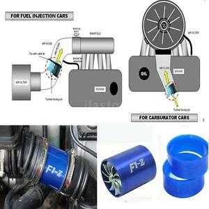 Double Supercharger Car Turbine Charger Air Filter Intake Fan Fuel Gas Saver