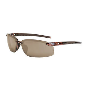 Fortitude Crystal Frame Hd Brown Flash Mirror Lens Protective Glasses Eyewear