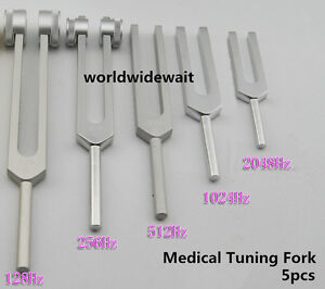 New 5pcs Medical Tuning Fork Surgical Diagnostic Instruments