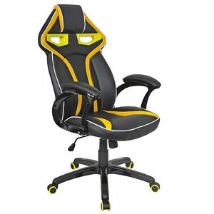 Racing Bucket Seat Office Chair High Back Gaming Chair Desk Task Ergonomic New