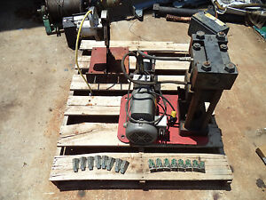 Parker Parkrimp 1 Hydraulic Hose Crimper 5 16 3 4 Die Set Gates Chop Saw