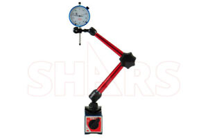 Shars Power Magnetic Base With 1 001 White Face Dial Test Indicator New