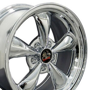 17x8 Wheel Fits Ford Mustang Bullitt Style Chrome 3448 Rim W1x