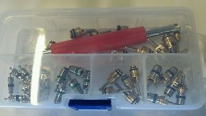 35 R12 R134a Autos A C Air Conditioning Valve Core Remover Tool Assortment Kit