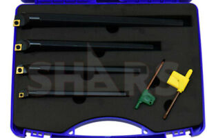 4pcs Sclcr Indexable Boring Bar Set 3 8 1 2 5 8 3 4 4 Inserts 124 Off S