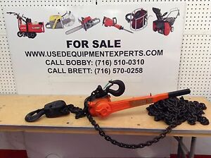 Cm 3 Ton Lever Operated Hoist Chain Fall Come Along Ratchet Lifting Equipment