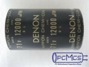 Ncc 71v 12000uf Denon Snap In Hi fi For Audio Capacitor Free Ship With Tracking