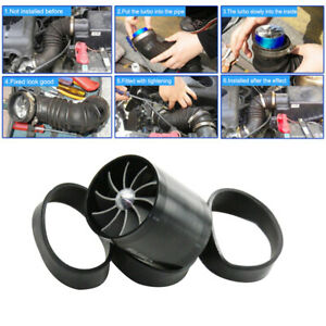 New Dual Fan Turbonator Fuel Saver For Turbo Supercharger Air Intake Black