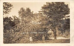 C72 Janesville Rock Co Wisconsin Wi Postcard Rppc Storm Disaster Crosby House3