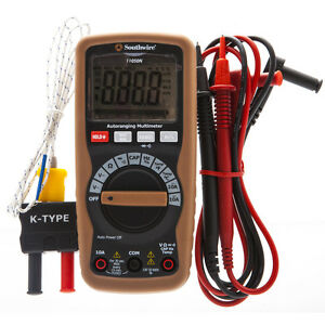 600 V Digital Multimeter Capacitance Frequency Duty Cycle Temperature Functions