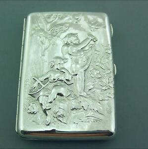 Antique Victorian Solid Silver Card Case Sampson Mordan