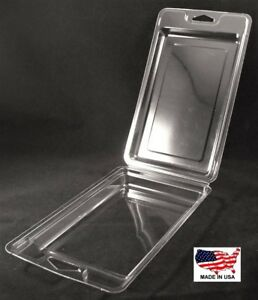 Clear Plastic Clamshell Packaging Containers 7 7 8 h X 4 5 8 w X 1 d box Of 200