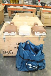 Lot Of 3 Three Laerdal Little Anne With Bag Rescue Annie