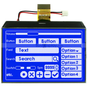 Blue 3 4 graphic Lcd Cog Display 240x160 single Sided Fpc optional Touch Panel