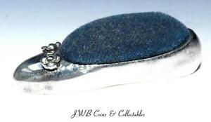 Vintage Sterling Silver Small Ladies Shoe Pin Cushion