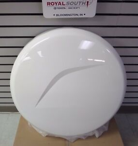 Toyota Rav4 09 12 Super White 040 Rear Spare Tire Hard Cover Genuine Oem Oe
