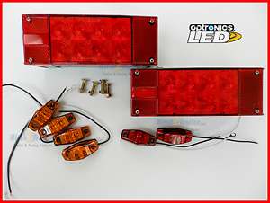 Submersible Trailer Rectangle Led Lights Stop Turn Tail Marker Light Optronics