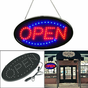 19 10 Neon Animated Led Business Sign Open Light Bar Store Shop Display