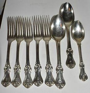 Vtg Antique German Silverplate F Soderstrom Forks Spoons Heavy Crown Crest