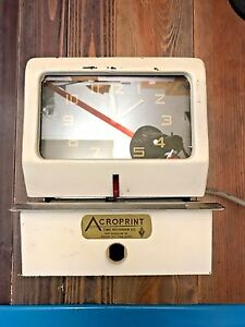 Vintage Acroprint Time Recorder W Time Cards 150rr4