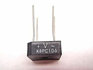 Lot Of 5 Vishay Kbpc106 Bridge Rectifier Single Phase 3a 600v