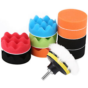 12pcs 3 Sponge Polishing Waxing Foam Buffing Pads Kit For Car Polisher Hot Co