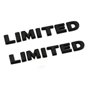 2pcs Black High Quality Limited 3d Decal Emblemfor Jeep Grand Cherokee Badges Lu