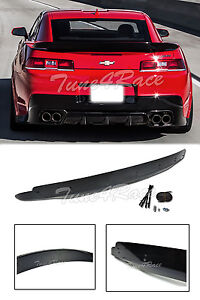 For 14 15 Chevrolet Camaro Rear Trunk Zl1 Style Wing Lip Spoiler W Wicker Bill