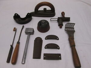 Antique Vintage Kitchen Tools Utensils Ice Pick Soap Dish Graters Iron