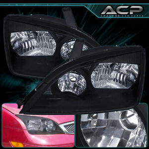 2005 2007 Ford Focus Jdm Black Housing Headlight Clear Lens Upgrade Replacement
